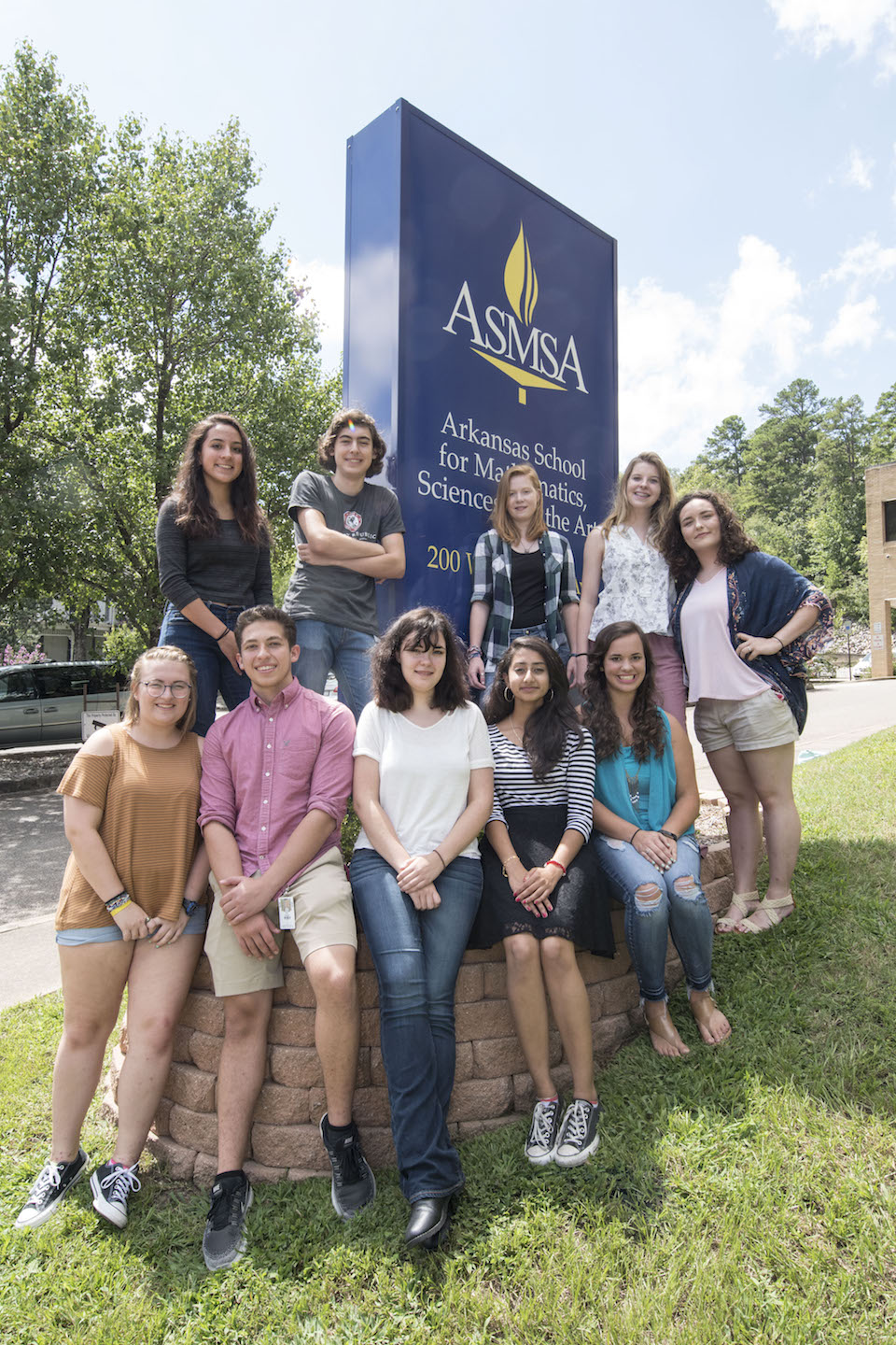 (Standing from left) Katherine Evans, John Ostermueller, Cameron Rhoden, Elizabeth Solleder and Hollie Hagler. (Seated from left) Lily Ann Easley, Sarkis Kalajyan, Nadia Teske, Riddhi Modi and Alyssa Easterling.