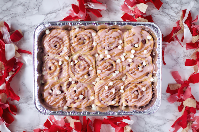 Strawberry Sweetheart Rolls