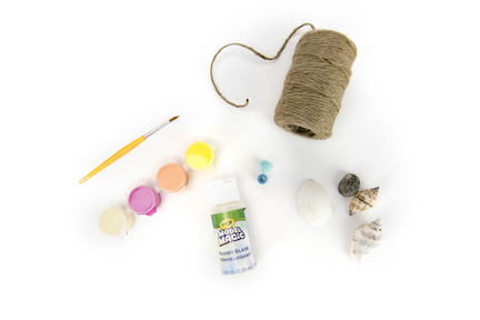 Seashell craft materials