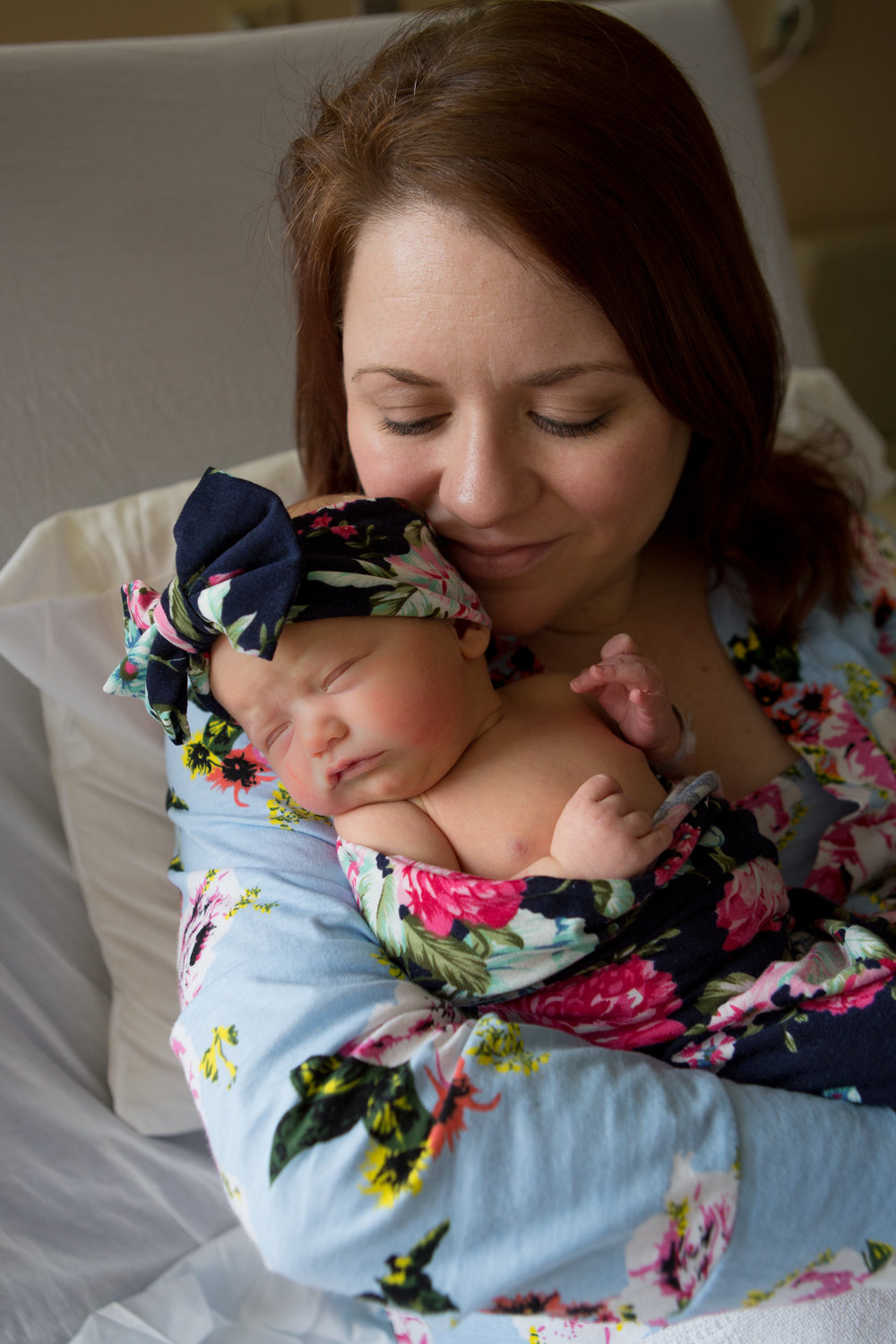 "AFTER WEEKS OF BEDREST AND A SLIGHTLY BUMPY PREGNANCY, THE GRIMES FAMILY WELCOMED Florence Elizabeth ""Birdie"" IN March."