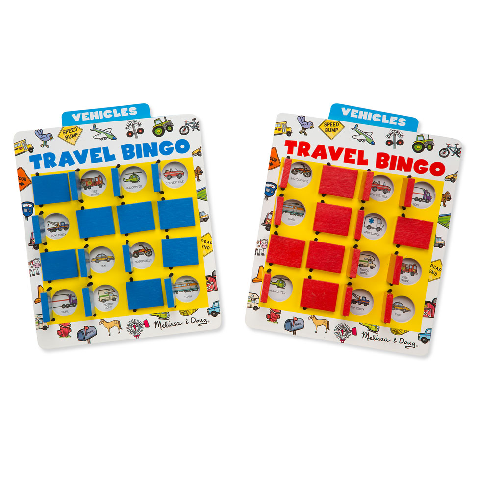Get the whole family into a game of travel bingo!