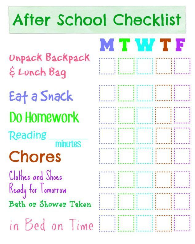 One of the biggest headaches I have is dealing with the burst of energy running through our doors after school. We all benefit from having a mini checklist to get on the same page quickly. This can be as basic as a hand written list on the fridge, or something more interactive like a dry erase board with tasks and boxes to check off.