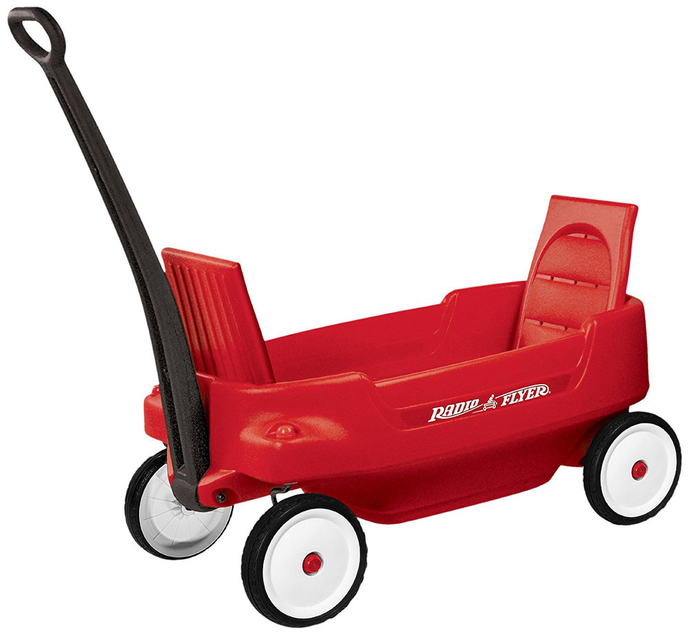 When my kids were little, I would lay blankets down in the wagon or on the Astroturf carpet and let them nap all day!