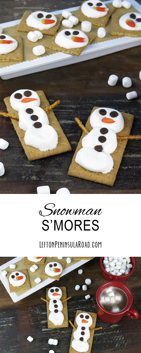 Make Snowman Grahams! I learned about these while working alongside another therapist last winter. So easy and the kids enjoy making and devouring their creations.