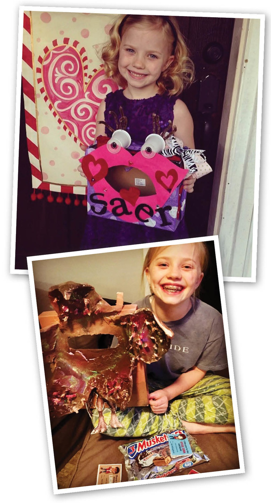 Your child will probably need a Valentine box, which is a fun way to get creative! You can turn a shoebox into anything— even a Demogorgon—with some imagination (and a little papier mache).