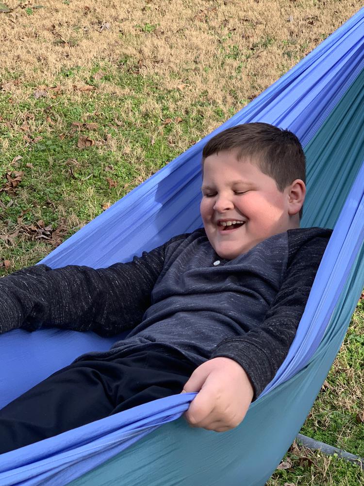 Grayson enjoying the great outdoors