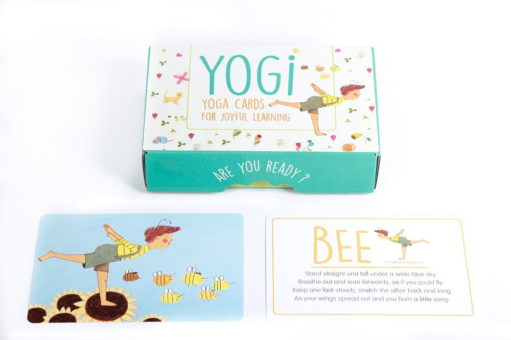Yogi Fun Kids Cards are a fun way to learn poses. Use them to introduce kids to yoga with a fun game at home.