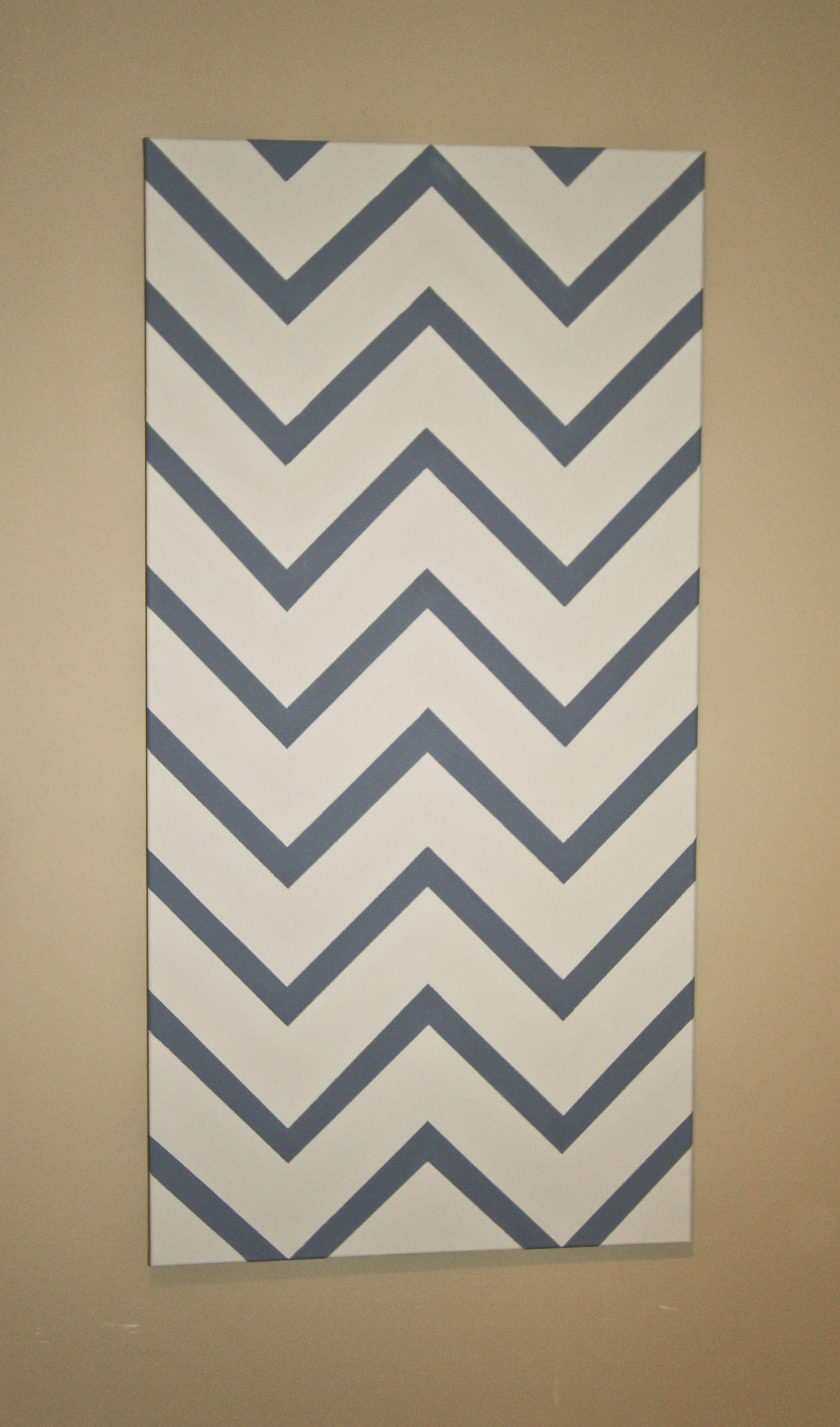 Chevron Striped Canvas
