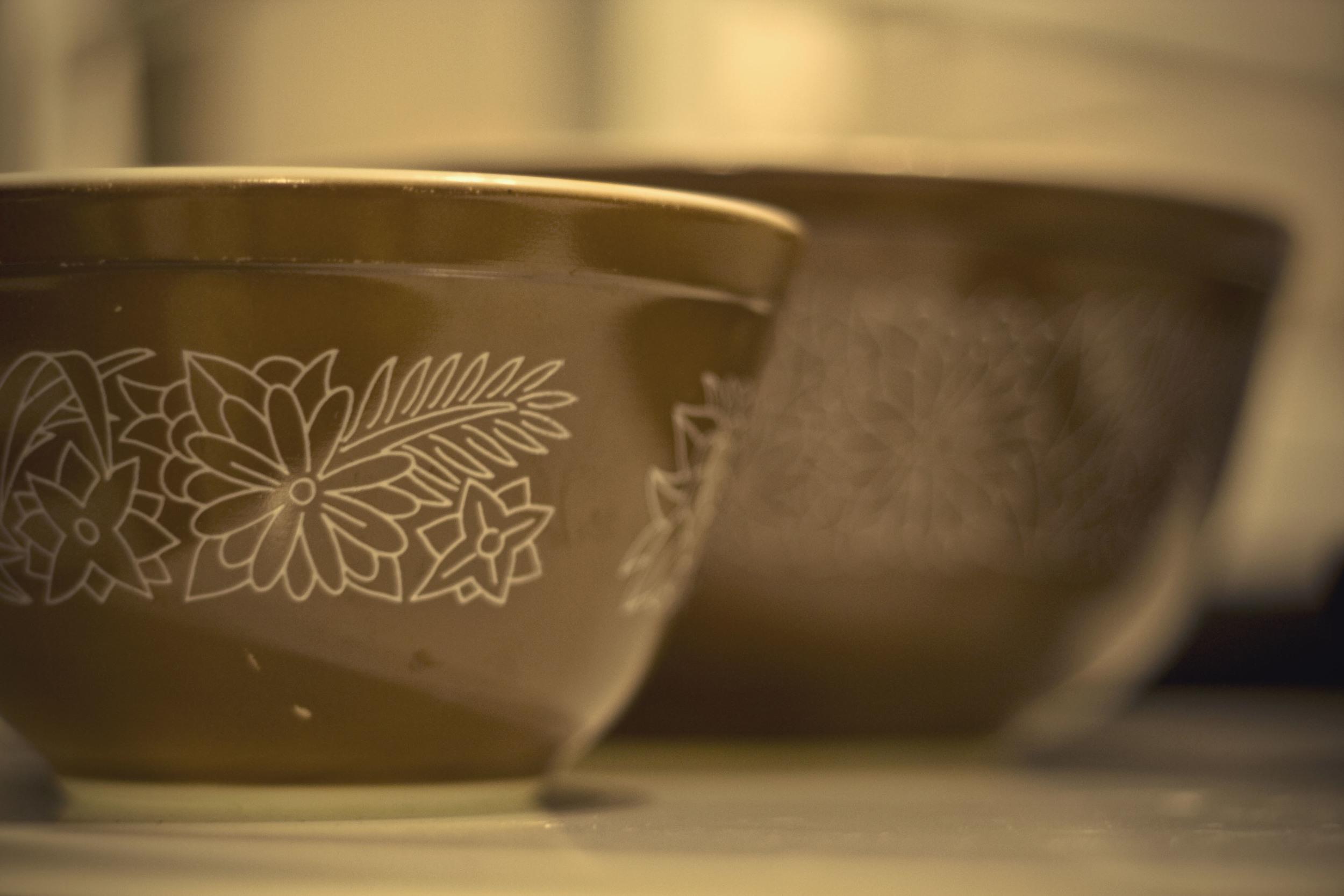 Brown Pyrex Bowls