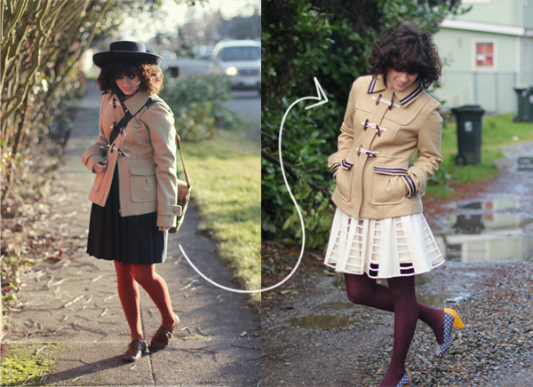 Delightfully Tacky - nautical coat DIY