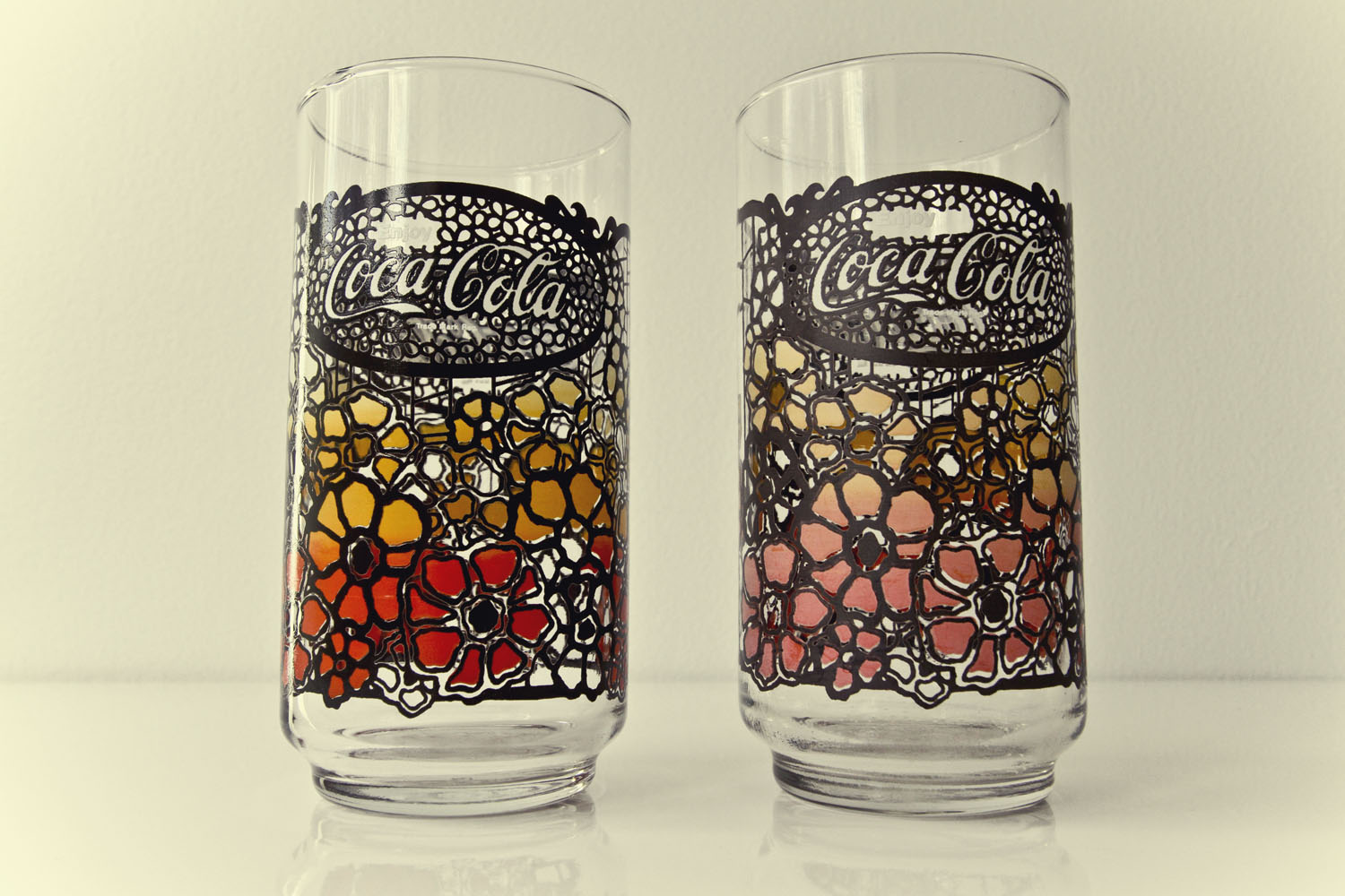 Vintage 1970s Coca Cola Glasses