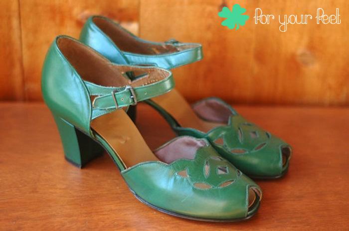 Vintage 1940s Peep-Toe Shoes