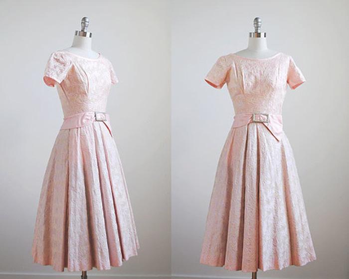 Vintage Pink Pastel Dress