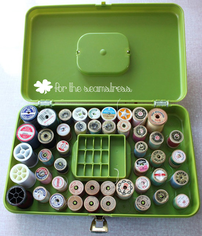 Vintage Green Sewing Case