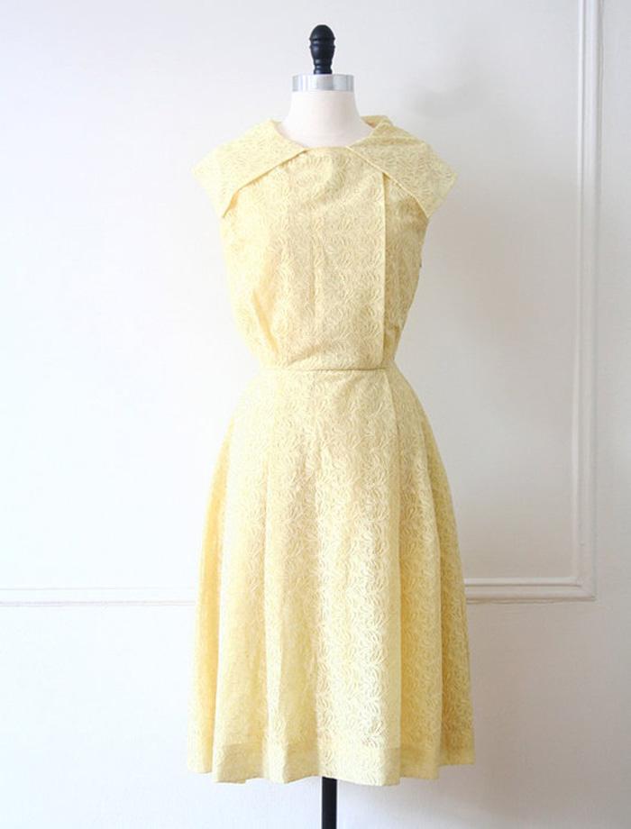 Vintage yellow pastel dress