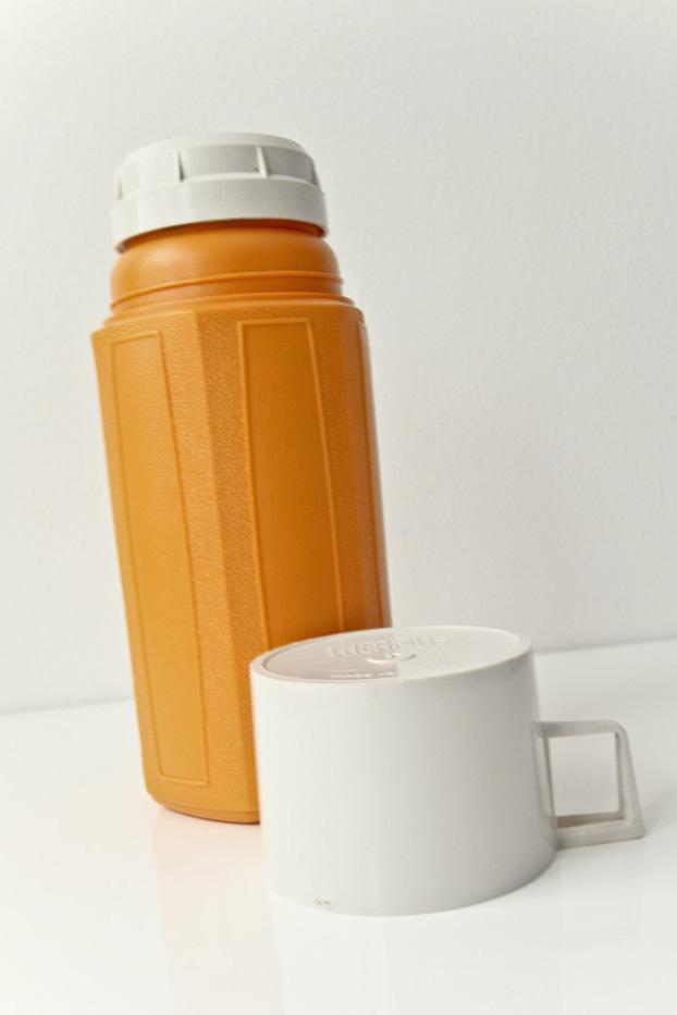 Vintage Orange Thermos