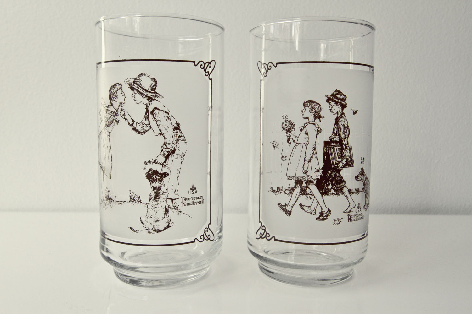 Norman Rockwell Pepsi Glasses