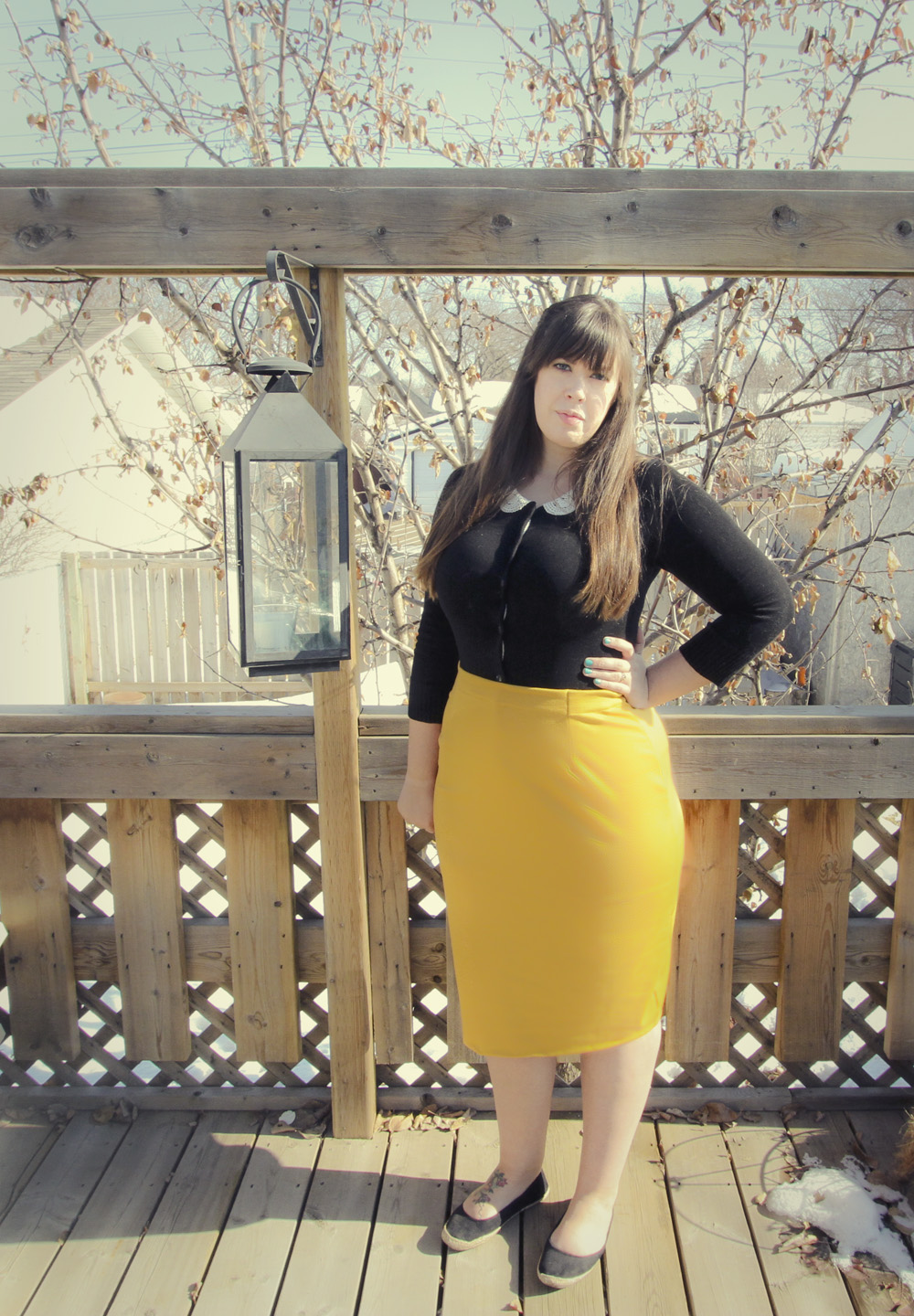 Thrifted - DIY Pencil Skirt