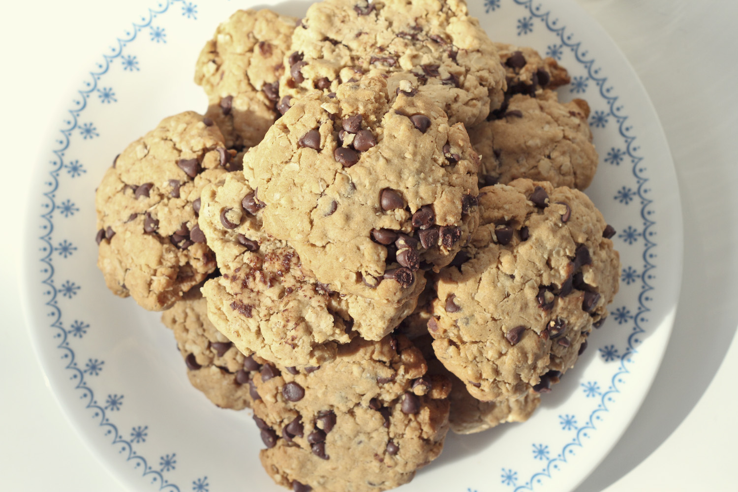 Peanut Butter Chocolate Chip Oatmeal Cookies//Thrifted