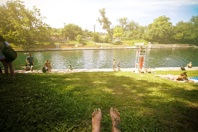 Barton Springs Pool - Austin, TX// Thrifted