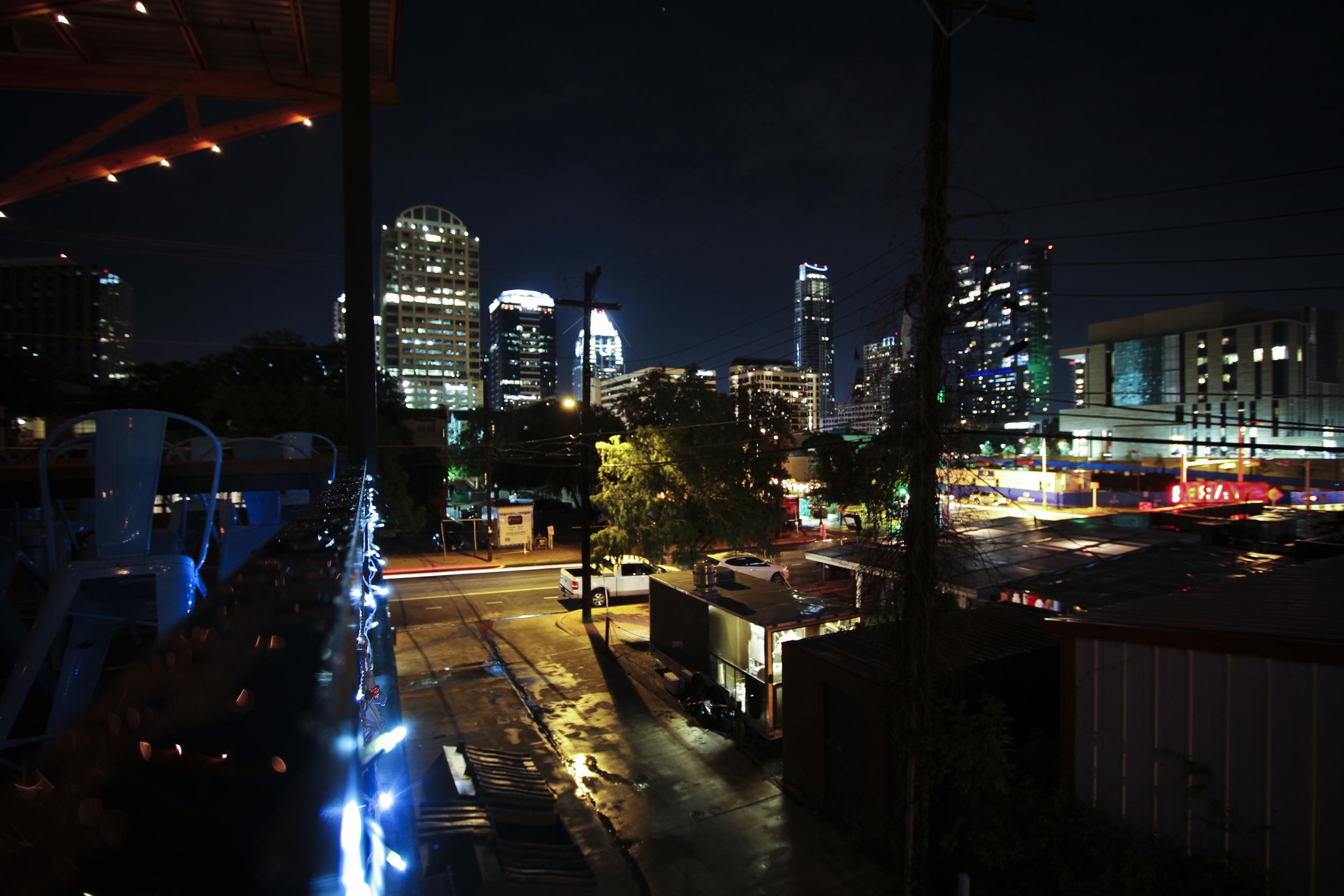 Austin, TX at Night// Thrifted