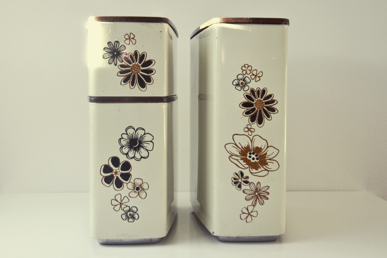 Thrift Store Finds: Vintage Canister Love//©Thrifted 2013
