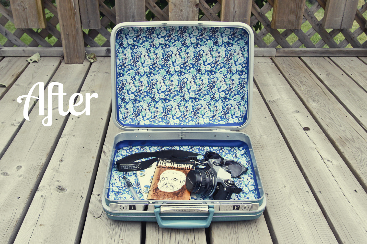 Thrifted// Vintage Samsonite Makeover// ©Allison Dragsten 2013