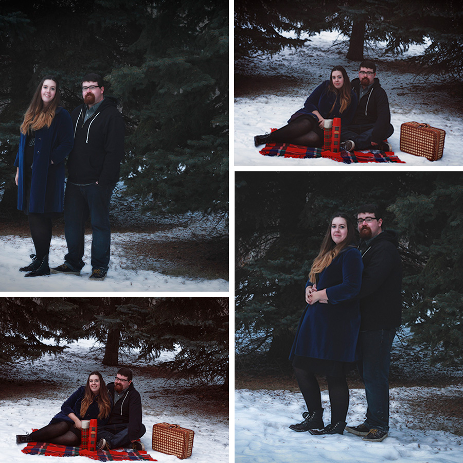 THRIFTED//DIY engagement photos