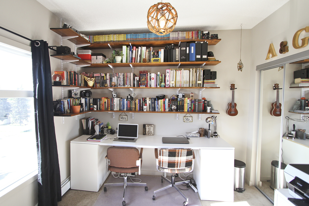 Our Home Office// Thrifted
