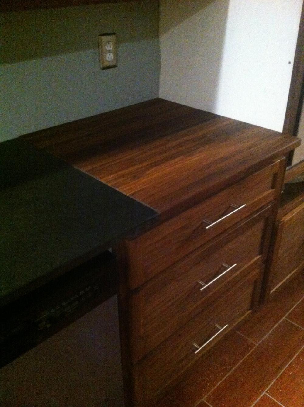 Walnut Overlay Kitchen