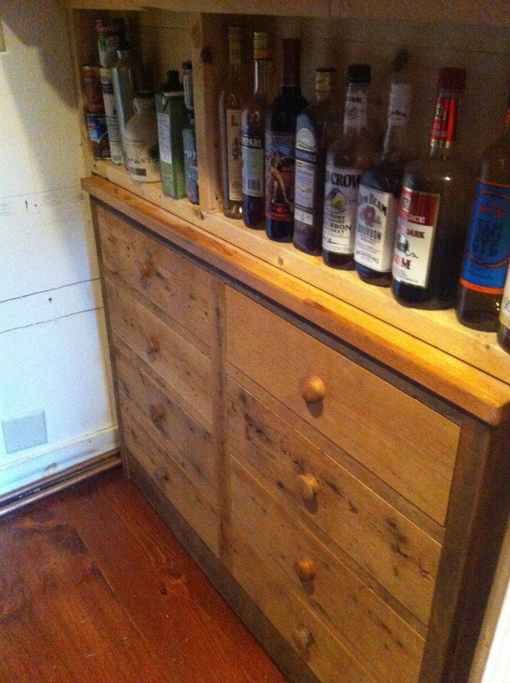 Reclaimed Storage Bar Unit