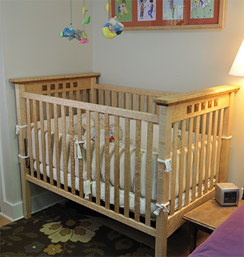 Birdseye Maple Crib