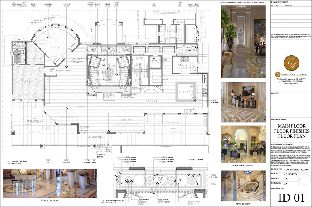 Main Floor Finishes and Floor Plan