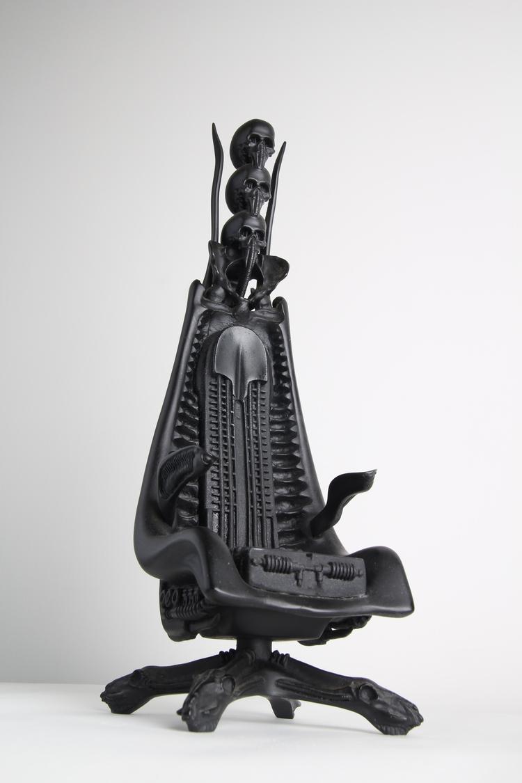 Black skull chair - Skull Chair Accurate 3d Scan With A Detail Sculpt Chair