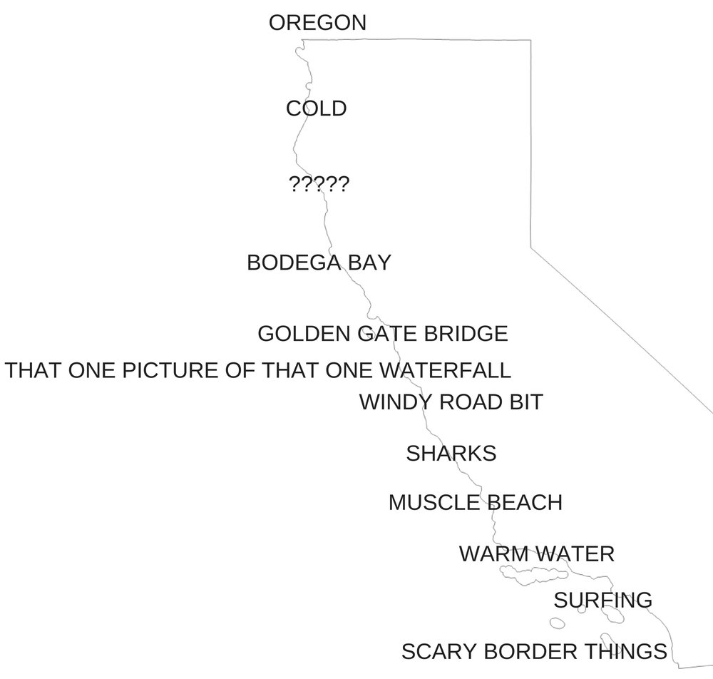 Oregoncold???Bodega BayGolden Gate Bridgewindy road bitthat one picture of that one waterfalluhhhsharksmuscle beachwarm watersurfingscary border things.jpg