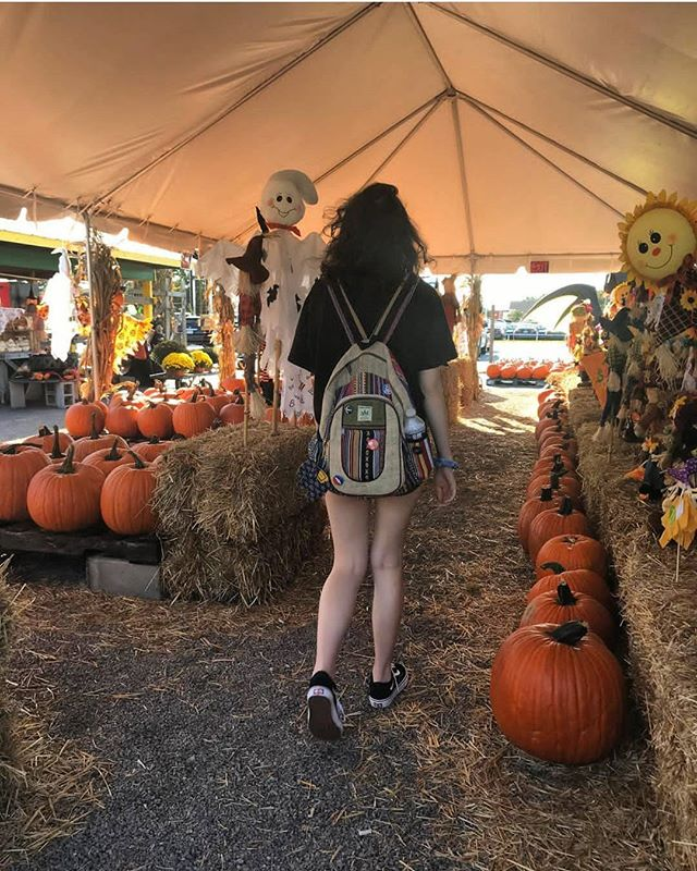 @breathinbein with her Autumn Hempack at the pumpkin patch! 🎃 #Hempacks