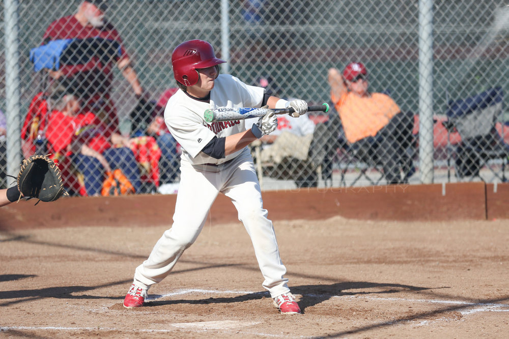 SANTA CRUZ, CA - MARCH 12: Santa Cruz High vs Trinity Christian (Monterey) Varsity Baseball on March 12, 2015 Santa Cruz, California. (Photo by ©Tim Cattera Photography/Local Sports Moments)
