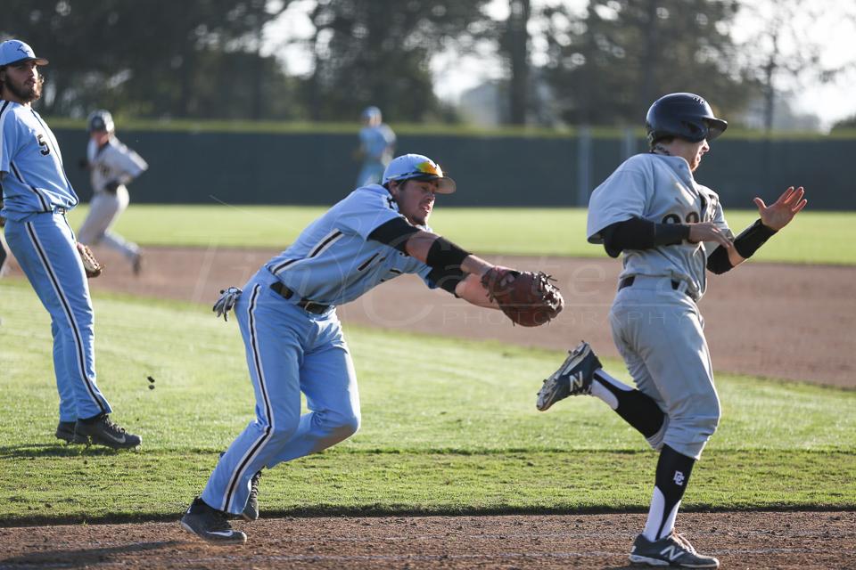 Aptos, CA - JANUARY 19:  Cabrillo College vs San Joaquin Delta Baseball on January 19, 2015 Scotts Valley, California. (Photo by Tim Cattera Photography)