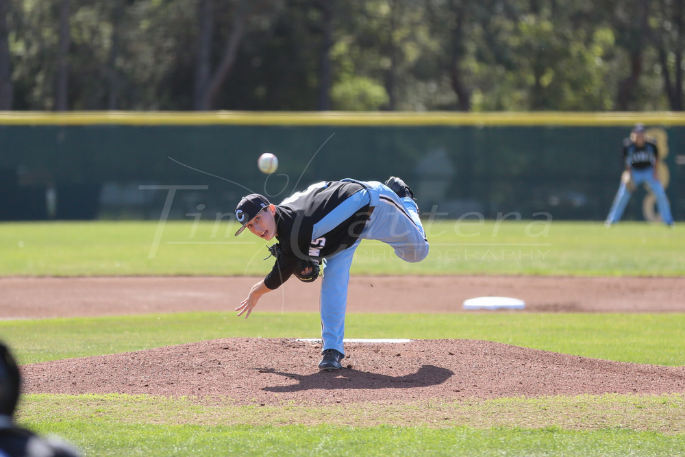 Cabrillo College vs De Anza College Baseball on March 17, 2015 Aptos, California. (Photo by Tim Cattera Photography/Local Sports Moments)