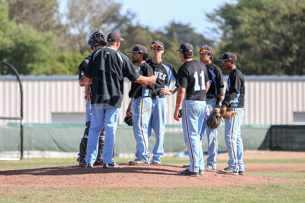 Cabrillo College vs Monterey Peninsula College Baseball on March 19, 2015 Aptos, California. (Photo by Tim Cattera Photography/Local Sports Moments)
