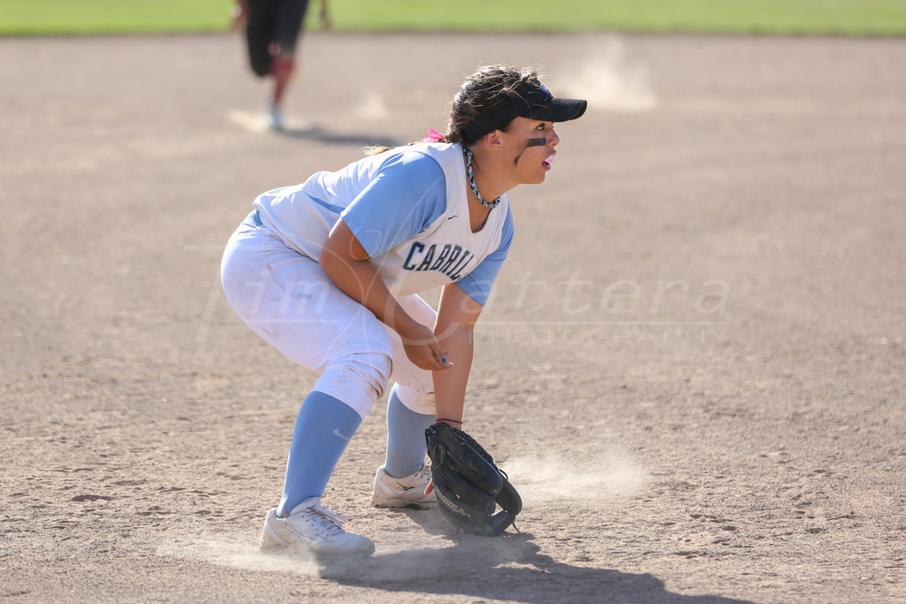 APTOS, CA - MARCH 17: Cabrillo College vs De Anza Girls Softball on March 17, 2015 Aptos, California. (Photo by ©Tim Cattera Photography/Local Sport Moments)