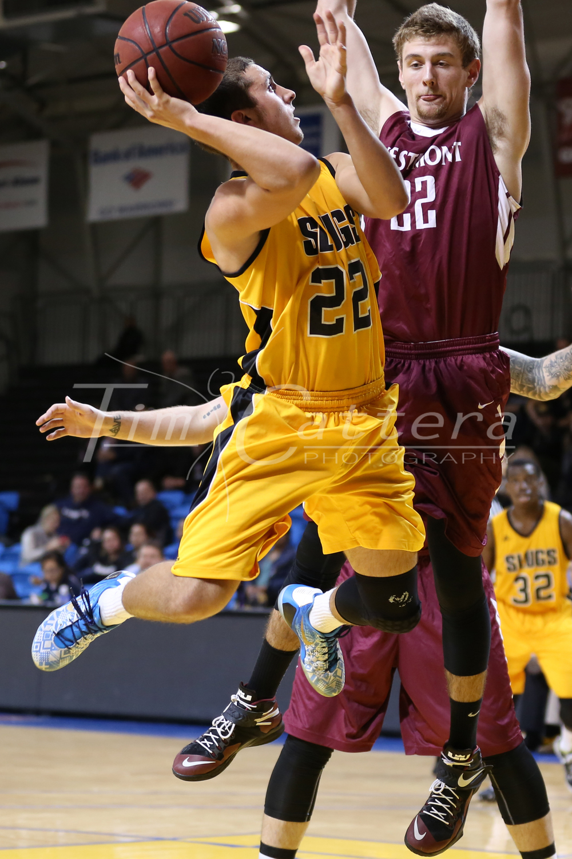SANTA CRUZ, CA - JANUARY 8:  Mens UC Basketball on January 8, 2015 at Kaiser Permanente Arena in Santa Cruz, California. (Photo by Tim Cattera Photography)