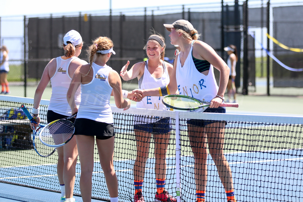 SANTA CRUZ, CA - MARCH 29:  UCSC vs Cal Lutheran Womens Tennis on March 29, 2015 at Kaiser Permanente Arena in Santa Cruz, California. (Photo by Tim Cattera Photography/ LocalSportsMoments.com)