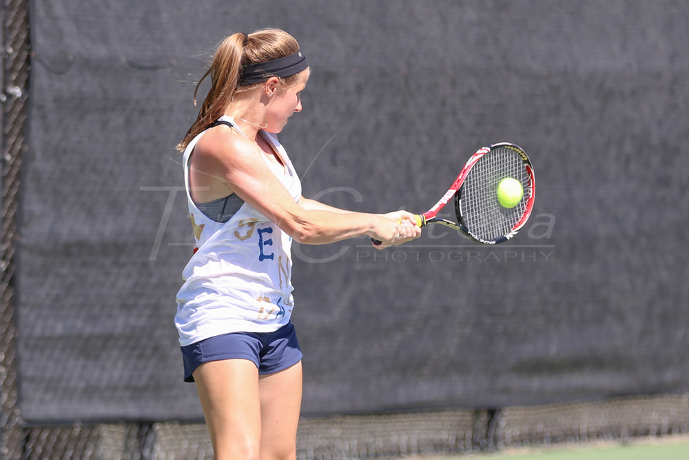 SANTA CRUZ, CA - MARCH 29:  UCSC vs Cal Lutheran Womens Tennis on March 29, 2015 at Kaiser Permanente Arena in Santa Cruz, California. (Photo by Tim Cattera Photography/ LocalSportsMoments.com)