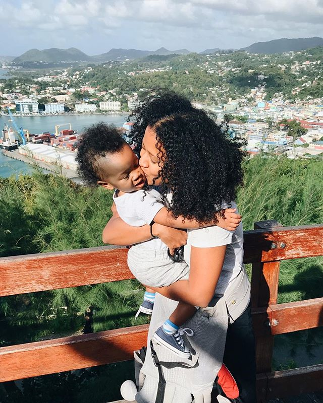 Traveling alone with a toddler... while trying to actually live in the moment ... is a recipe for struggle pics! 🤦🏾‍♀️😅 Sorry y'all, but is the best one we got all day .. taken by our gracious @airbnb host. 🤷🏾‍♀️ Maybe I'll try to set up the self timer tomorrow for some 'fake candid, artsy, our life is so great on instagram' type pics. 😂😂 We shall see... #mommyandmetravel #stlucia #hendrixonthego #jasmineonthego