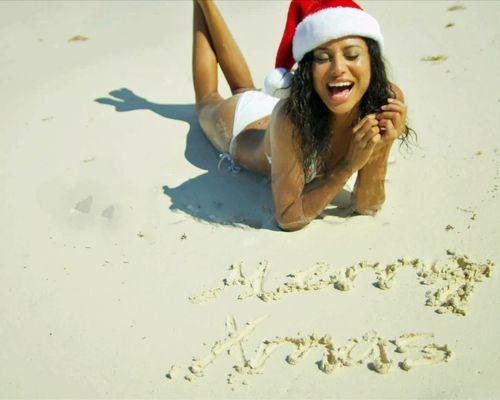 Santas beach elf