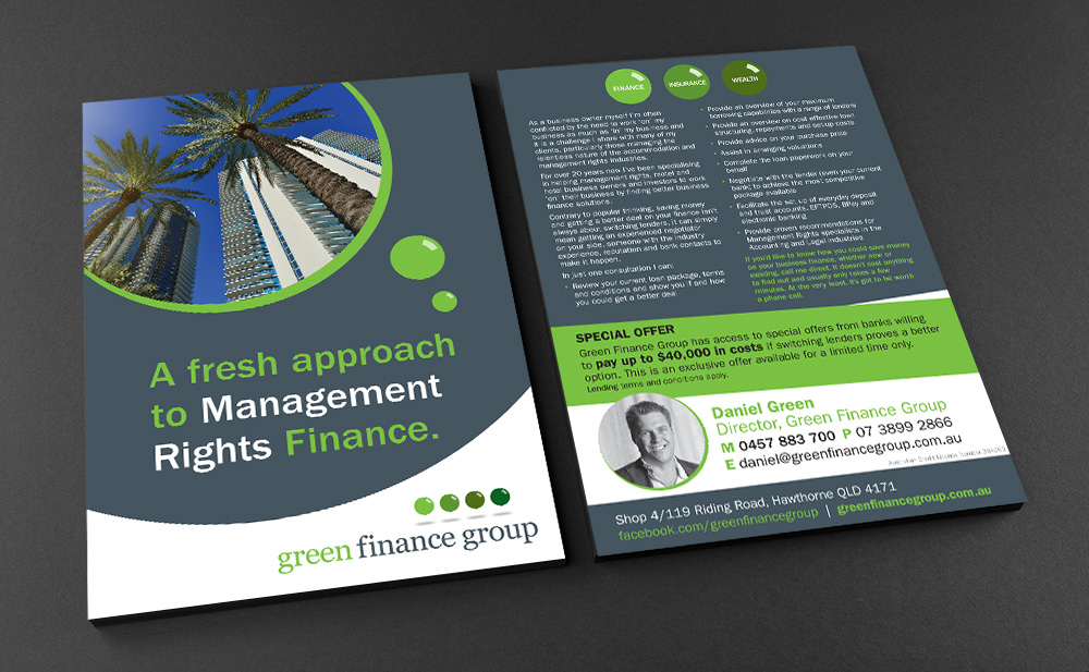 Green Finance Group A5 flyer.