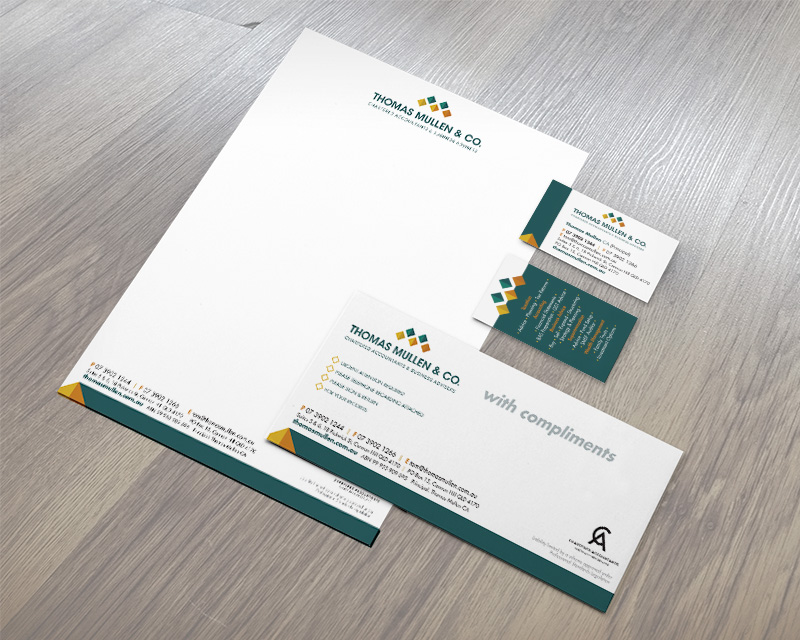 Stationery suite for chartered accountant. I also designed the logo.