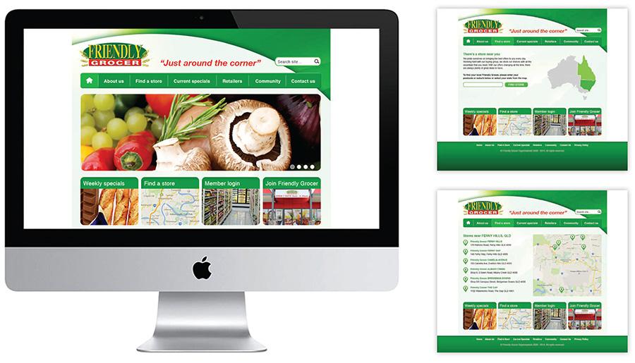 Website re-design for Friendly Grocer