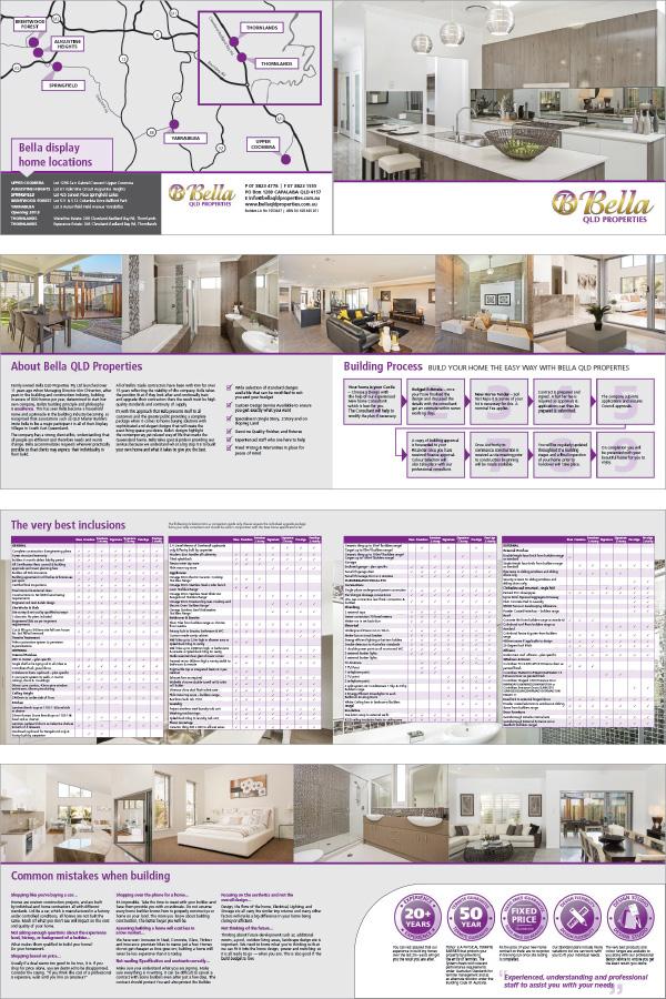 Spreads from brochure design, inside back cover includes folder (die cut mockup)